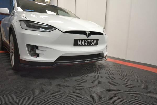 Bilde av Maxton Tesla X Front spoiler leppe Carbon